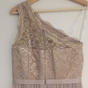David's Bridal Dresses - David's Bridal Gold Metallic bridesmaid dress